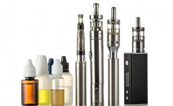 Electronic cigarettes isolated on the white background