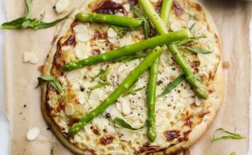 Asparagus-Tarragon-&-Almond-Pizza-Bianco