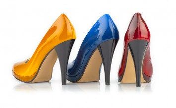 High heel woman shoe. Isolated on a white background.