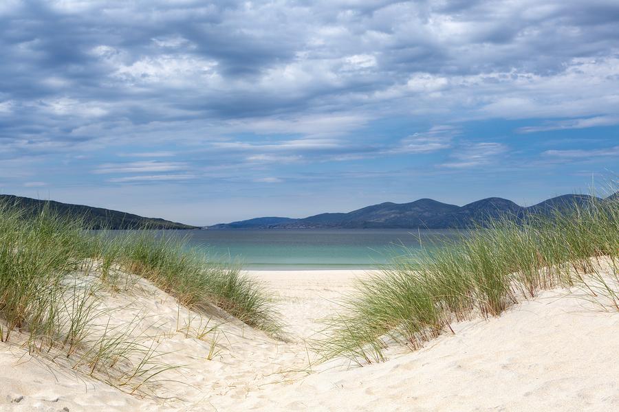 Dunes on Luskentyre beach on the Isle of Harris, Outer Hebrides,