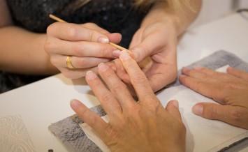 Healthy, Well Groomed Nails, Natural Beauty. Treatment Hand  Nai