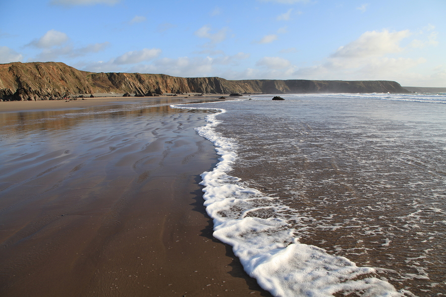 Sea and Beach at Marloes Sands, Pembrokeshire