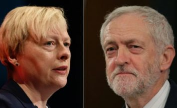 Angela Eagle and Jeremy Corbyn