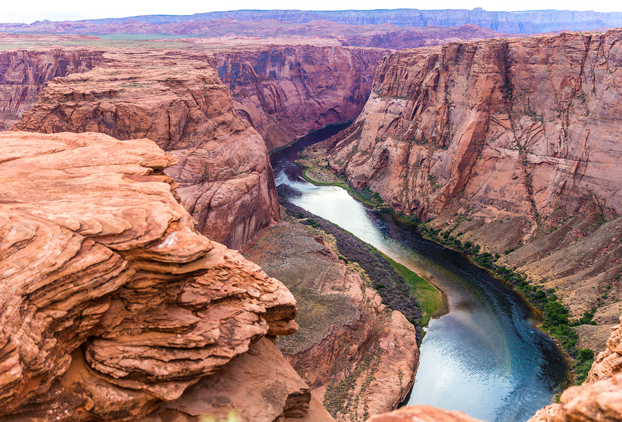 Arizona Horseshoe Bend on Colorado River in Glen Canyon Arizona USA