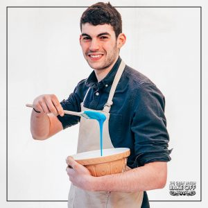 20-year old Michael is a Politics and Economics student at Durham University, and is strongly influenced by his Greek heritage in his bakes. He loves making Greek pastries, as well as ambitious cakes with less-than-traditional flavour combinations.