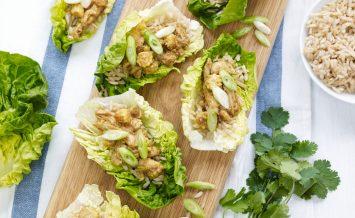 Satay-Chicken-in-Baby-Gem-Lettuce-Cups