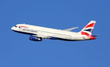 BARCELONA SPAIN - DECEMBER 11: A British Airways Airbus A320 taking off on December 11 2014 in Barcelona. British Airways is the international airline of Great Britain with its headquarters in London.