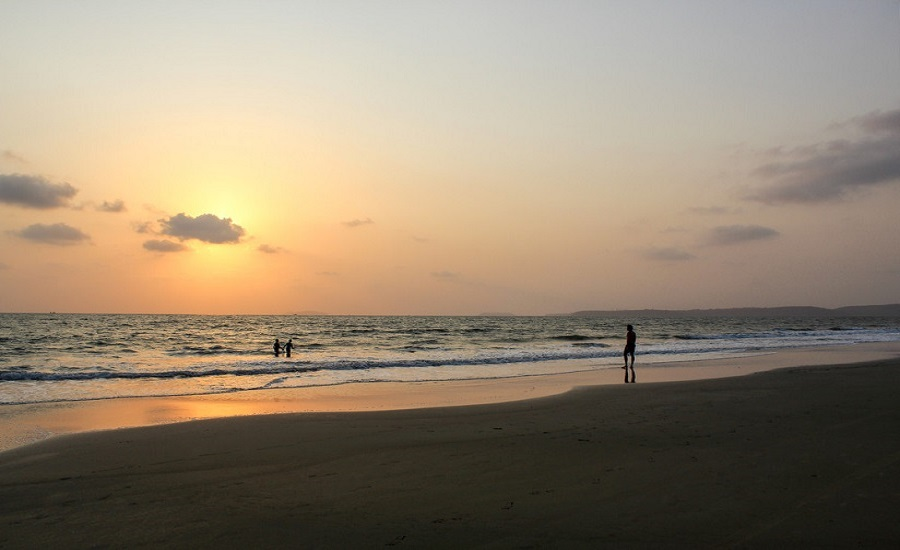 Arossim Beach at sunset
