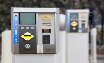 Ticket machine at the exit of a car park