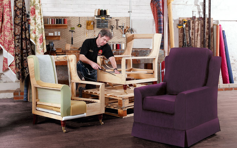 Mick: One of our Master Upholsters at work