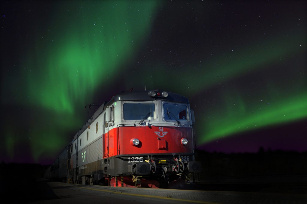 Polar Express Railway Train Northern Norway