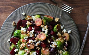 Honey glazed brussels sprouts and beetroot 1