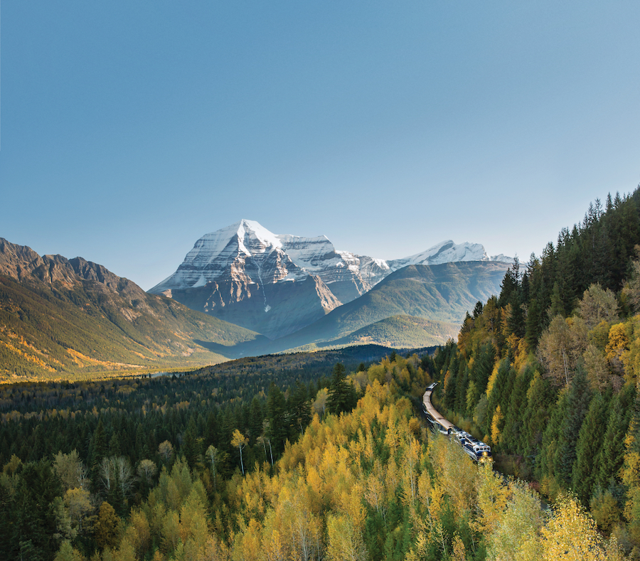 Rocky Mountaineer in Banff National Park, Canada