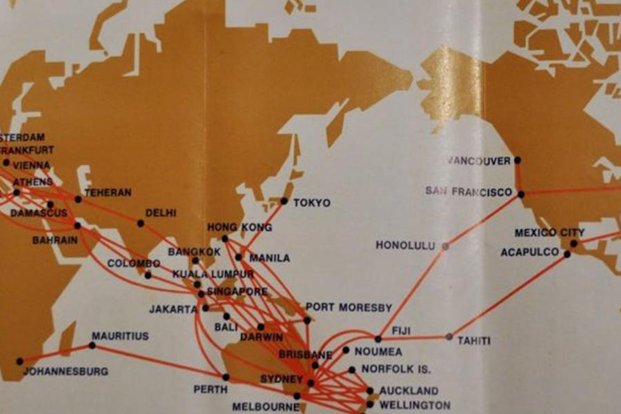 Qantas Fiesta route