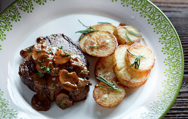Fillet Steak with Mushroom and Madeira Sauce