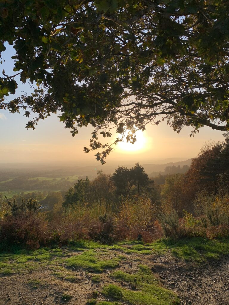 Sunset over the Surrey Hills