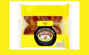 Marmite & Cheese Hot Cross bun